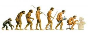 Evolutie lichaamshouding