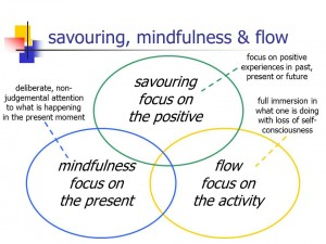 savouring, mindfulness and flow